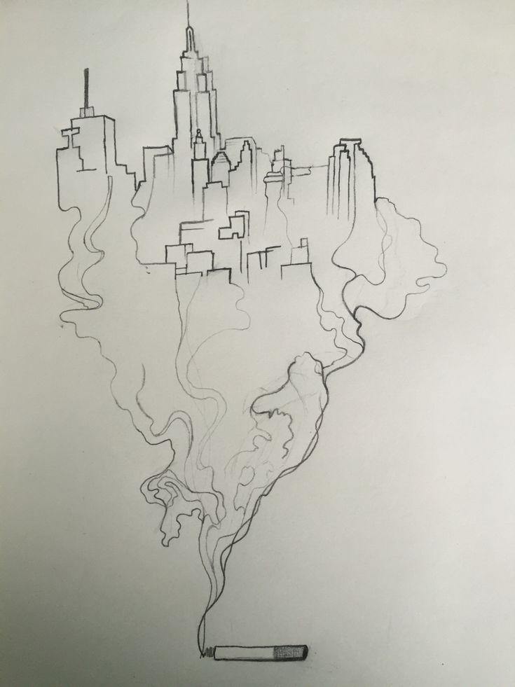 Smoking city sketch
