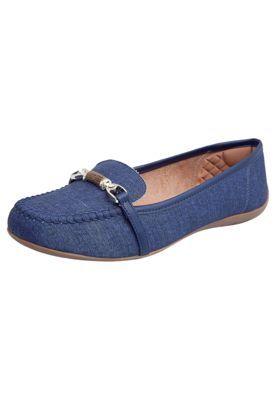 Mocassim AZALEIA Jeans Azul
