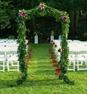 Greenery Draped Arbor Rustic Outdoor Wedding Ideas