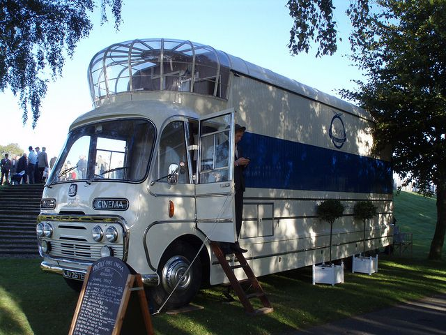1967 Bedford SB3 vintage mobile cinema bus