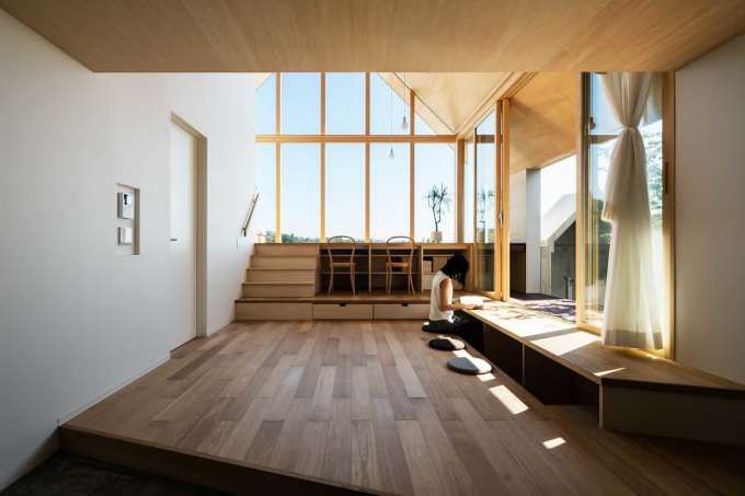 *공간 적 목적이 분명한 오픈하우스-[ KOHEI YUKAWA + HIROTO KAWAGUCHI ] NEWTOWN HOUSE :: 5osA: [오사]