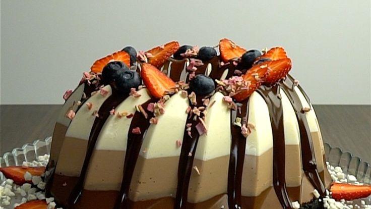 Schoko-Trio-Pudding-Kuchen