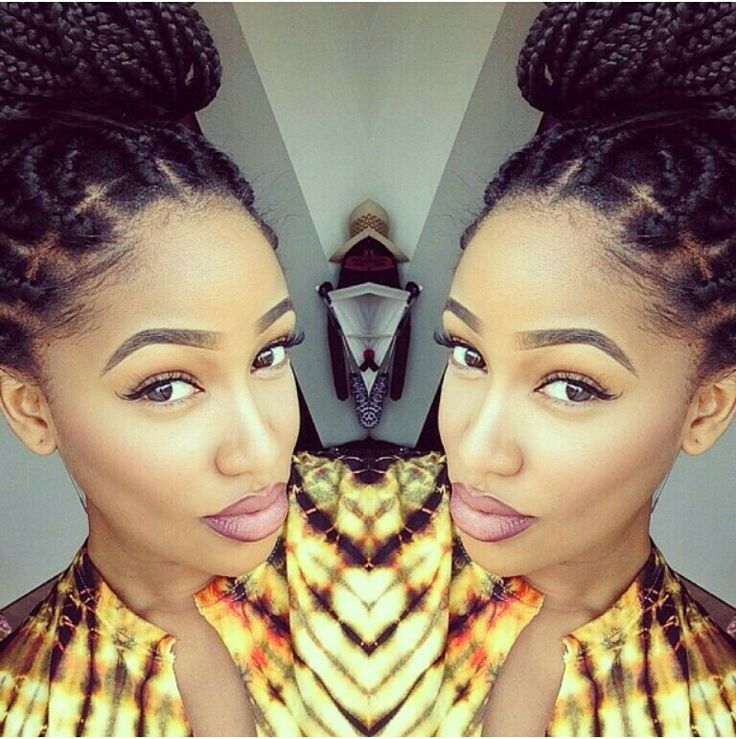 different natural hairstyles : Braided Beauty ? Box Braids ? Protective Styles ? Box Braids Bun ...