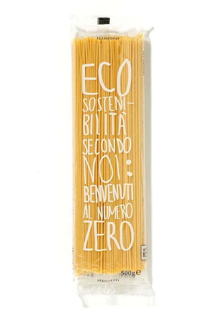 "Garofalo pasta presents its special packaging entitled ""Eco-sustainability according to us: welcome to the number zero"", designed by Angelini Design"