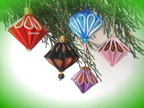 Decoraciones de Navidad bolas decoradas para Navidad y Año Nuevo, Manualidades para Navidad - YouTube