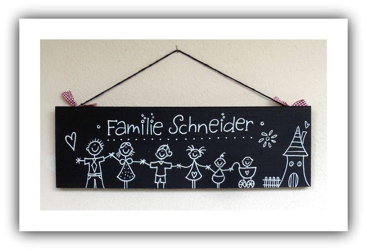 Türschild schwarz weiss klasse Hochzeitsgeschenk von SchilderWaldi auf DaWanda.com