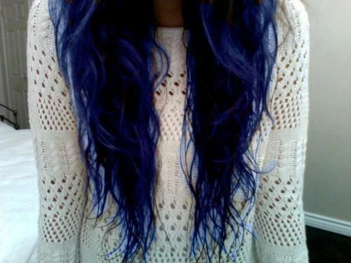 omg i love this dark blue. getting some blue in my hair next week, can't wait! <3