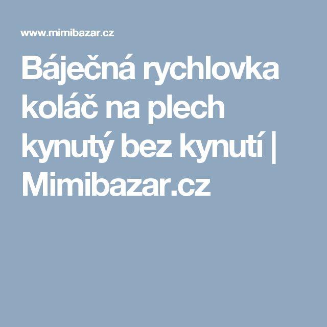 Báječná rychlovka koláč na plech kynutý bez kynutí | Mimibazar.cz