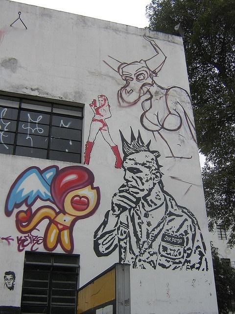 Wall Graffiti in Bogota at National University