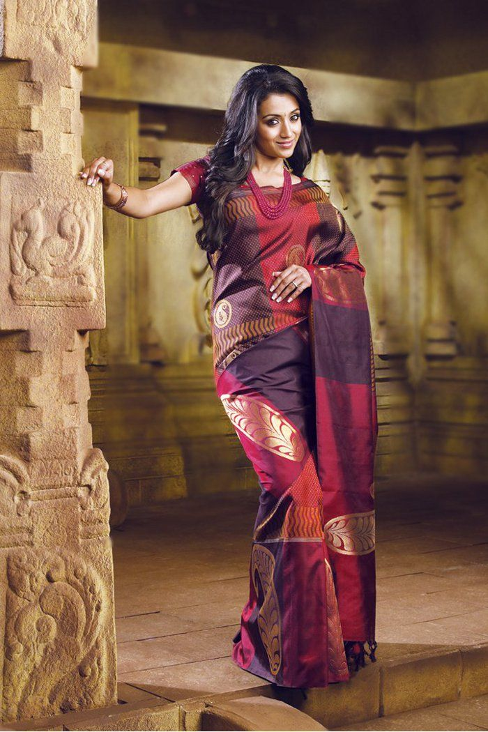 Like the Saree as it is!! Trisha just makes the package look mind blowing!!