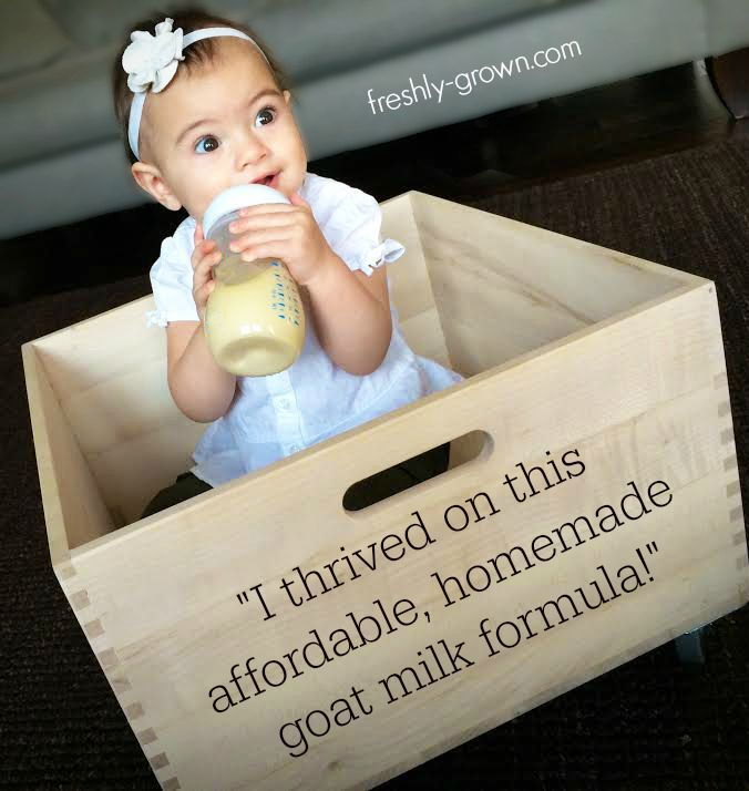 My Baby Thrived on this Affordable Homemade Goat Milk Formula! So much better than store-bought and it's cheaper! #homemadeformula #goatmilk