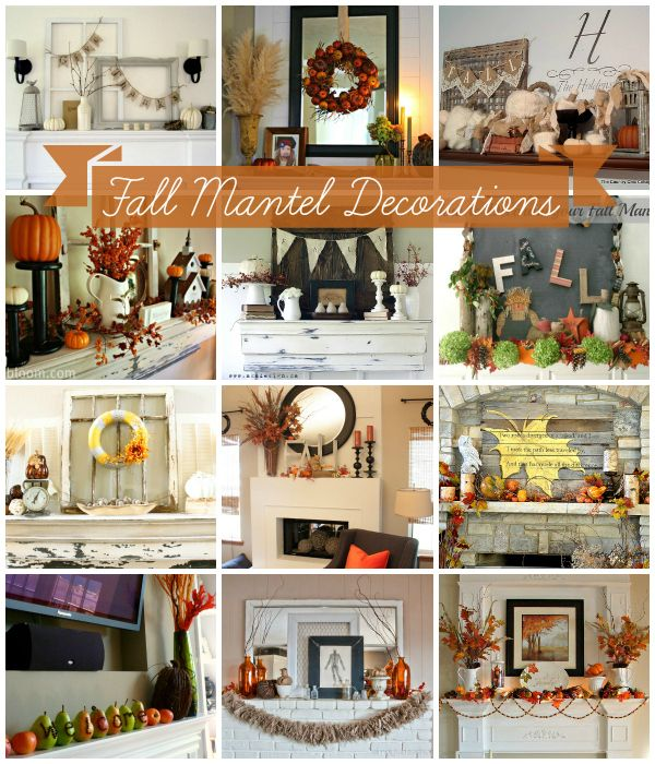 Integrate the fall season into your home with simple mantel makeovers.