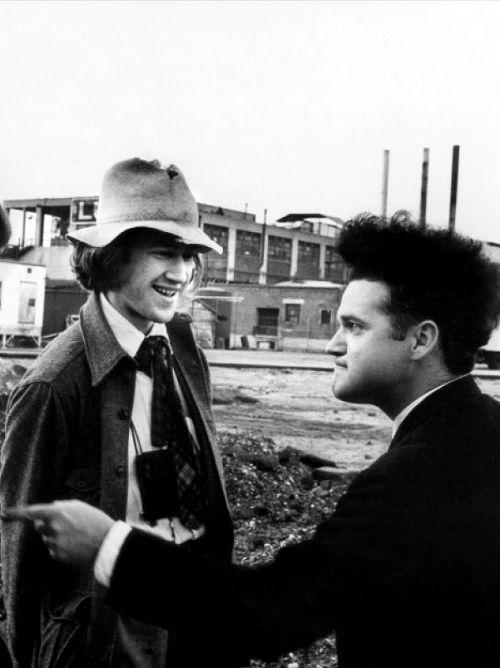 David Lynch & Jack Nance on the set of Eraserhead