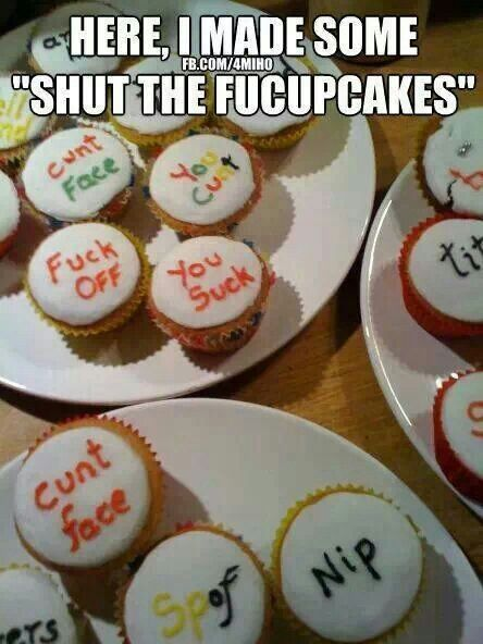 shut the fuck up cake