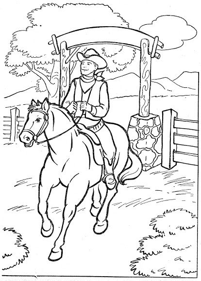 western coloring pages for kids - photo#31