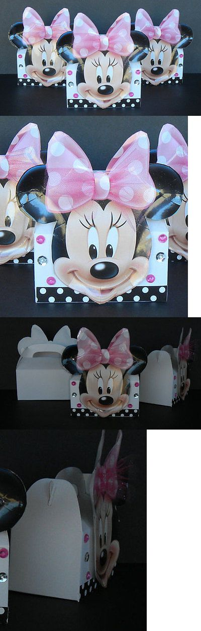 Favors and Party Bag Fillers 26385: Inspired 24Pc Disney Minnie Mouse Birthday Party Favor Hard Boardgoodie Gift 3D -> BUY IT NOW ONLY: $84.99 on eBay!