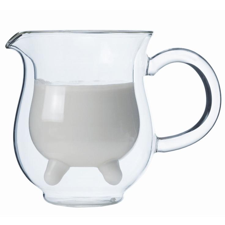 Brilliant Double Walled Milker Creamer Glass//