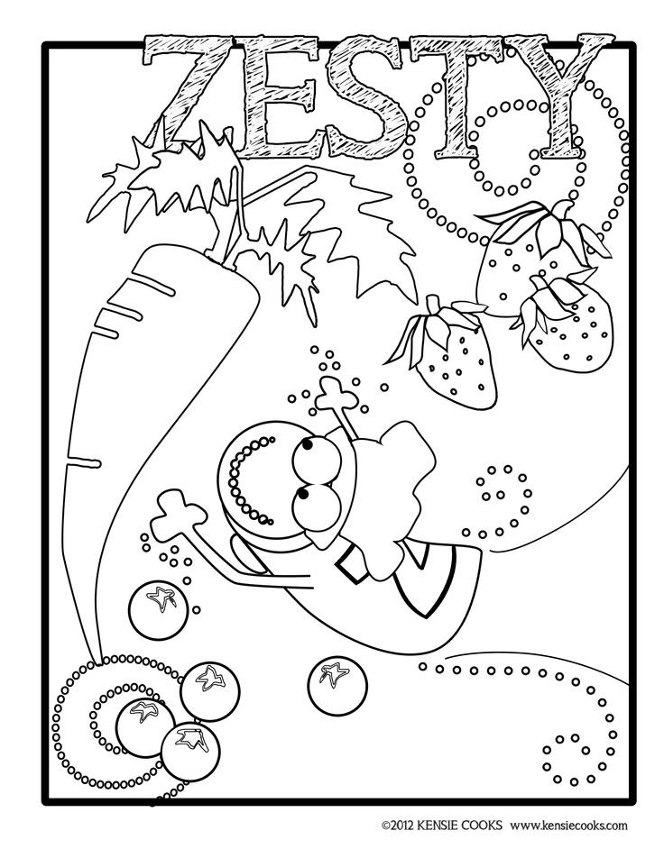 Kensie Cooks Coloring Page
