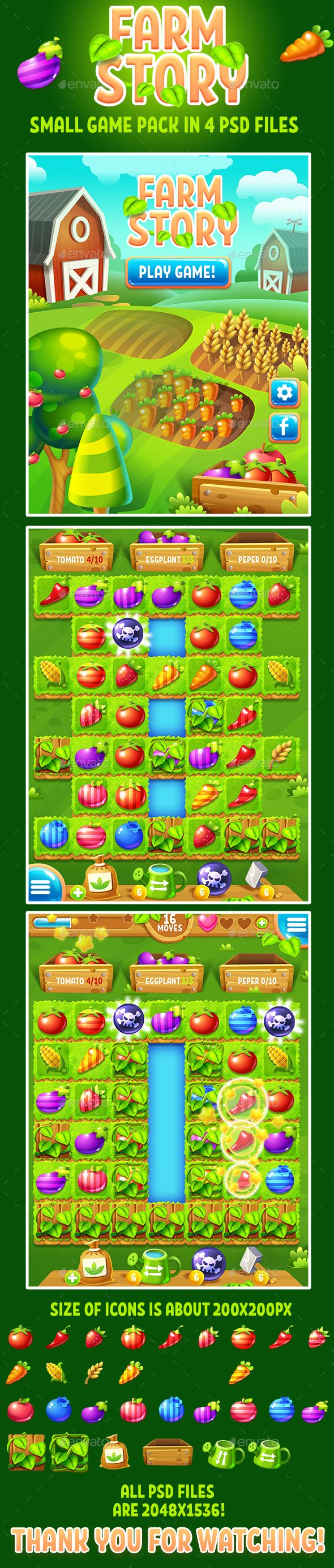 Farm Story Small Game Match-3 Pack