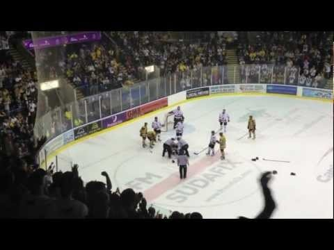 22nd September 2012.  Nottingham Panthers v Sheffield Steelers derby games are always a fiesty affair - this game was no different.  Gooooo STEELERS!