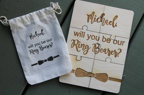 Wedding Ring Bearer Proposal Puzzle Gift Puzzle For Kids
