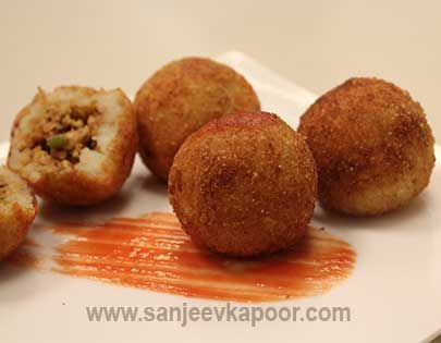 14 best potato recipes by chef sanjeev kapoor images on pinterest papa rellena recipe peruvian style chicken mince stuffed fried potato dumplings forumfinder Image collections