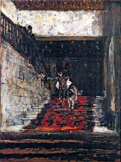 Mariano Fortuny y Marsal -- La escalera de la casa de Pilatos