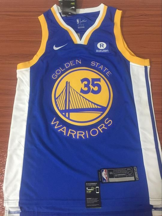 best authentic 699aa f16f8 Men GSW 35 Kevin Durant Jersey Blue Golden State Warriors ...
