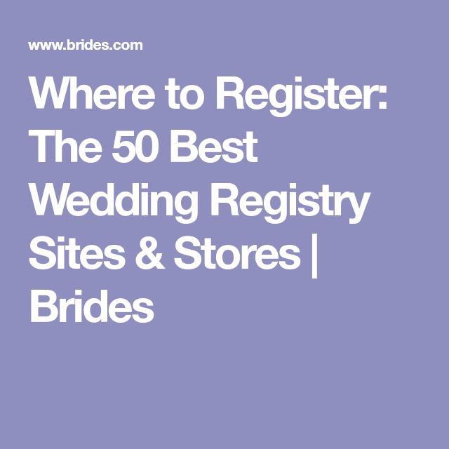 Best 25 best wedding registry ideas on pinterest wedding where to register the 50 best wedding registry sites stores junglespirit Image collections
