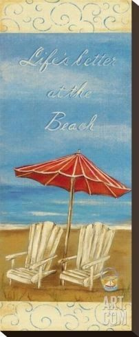 Life's Better at the Beach Canvas Art: http://ocean-beach-quotes.blogspot.com/2015/01/lifes-better-at-beach-canvas-art-with.html