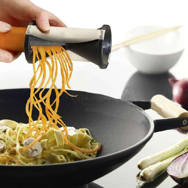 1PCS Vegetable Spiral Slicer Spirelli Graters Kitchen Spiralizer Julienne Cutter Carrots Gadgets
