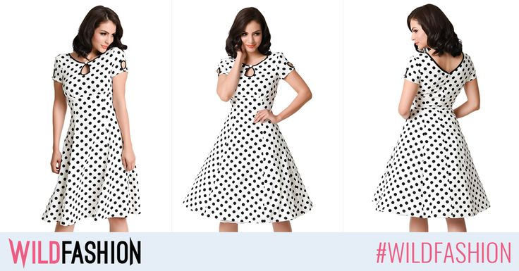Vrei o rochita care sa-ti evidentieze talia? Alege un model cu buline si croi in clos!