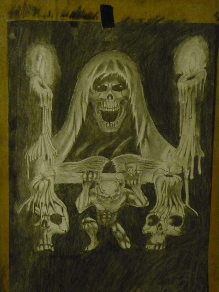 #art#pencil#fantasy#рисунок#карандаш#череп#фэнтези#skeleton#Сказочные Фантазии