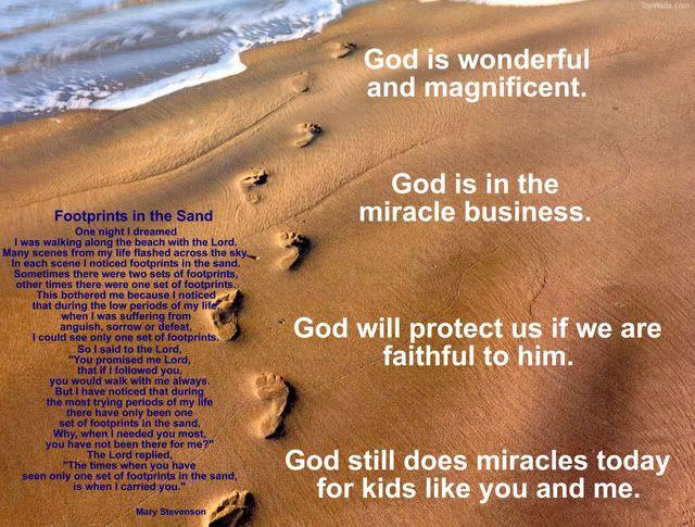 God Is Wonderfulfootprints Poem