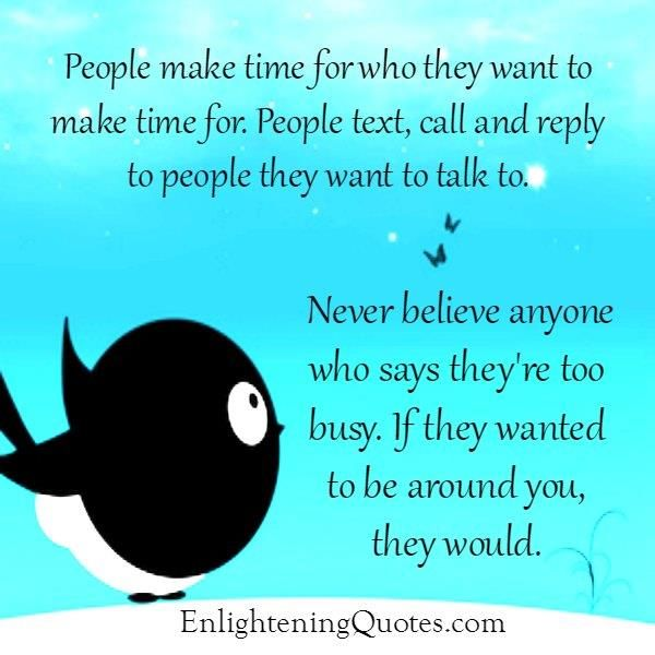 Sometimes people really are too #busy and they have to selectively reply to the few people in their #lives that mean the most to them.