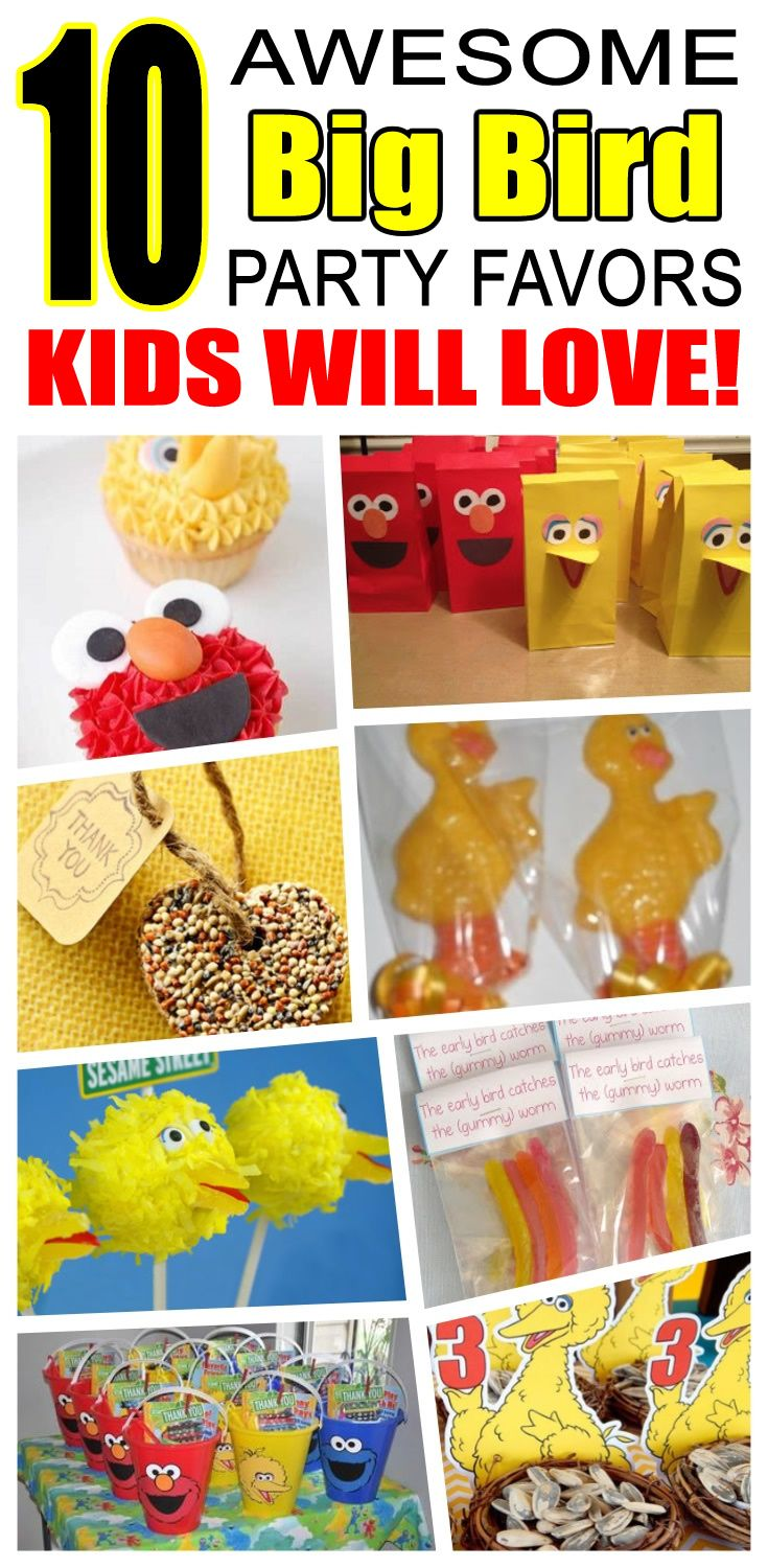Great big bird party favors kids will love. Fun and cool big bird birthday party favor ideas for children. Easy goody bags, treat bags, gifts and more for boys and girls. Get the best big bird birthday party favors any child would love to take home. Loot bags, loot boxes, goodie bags, candy and more for big bird party celebrations.