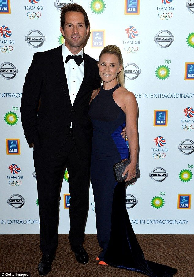 Close: Ben Ainslie and Georgie Thompson put on a loved-up display when they attended the l...