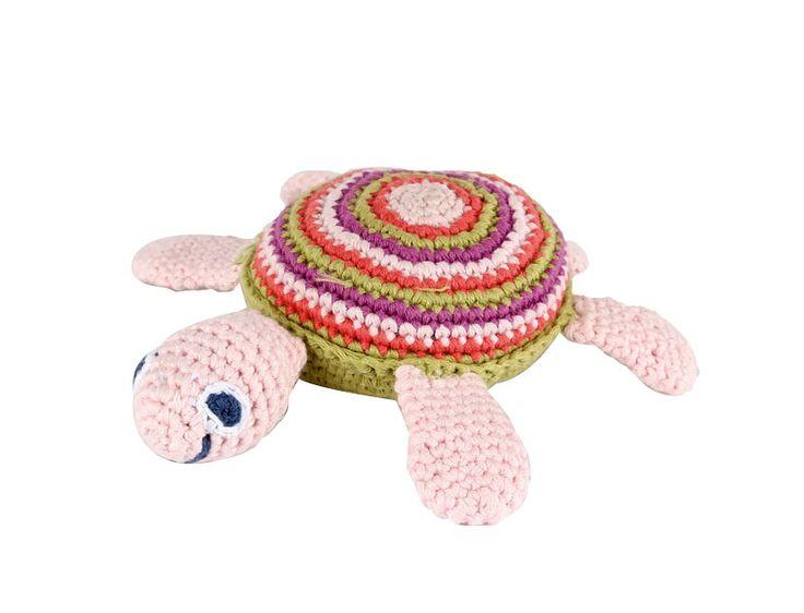 Skallra Sköldpadda i virkad bomull. Handgjord och Fair Trade.