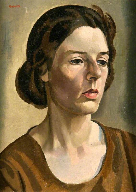 William Patrick Roberts (England 1895–1980), Miss Jane Tupper-Carey, oil/canvas, 1924. Collection Glynn Vivian Art Gallery, Swansea, Wales.