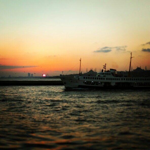 #istanbul#sunset#sehirhatları#gunbatımı