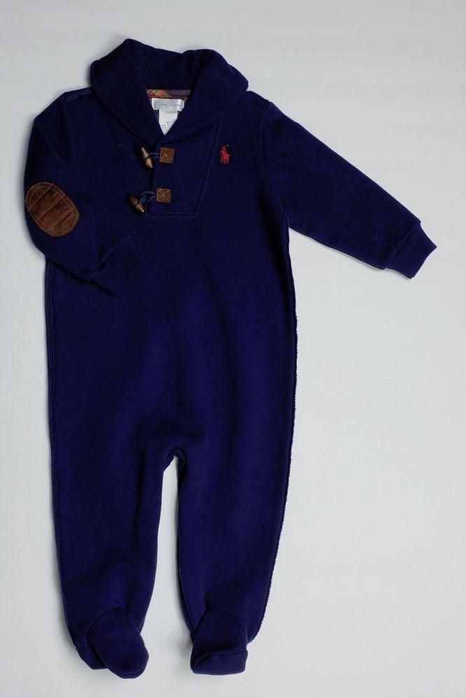 76bce633 NWT Ralph Lauren Baby Boy 9 mon ~ L/S Elbow Patches Shawl Collar ...