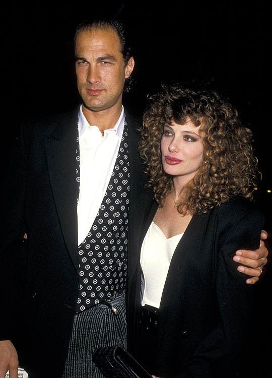 Stephen Seagal & wife Kelly Lebrock