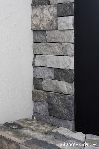 Fireplace surround makeover with AirStone {GIVEAWAY} - Ask Anna