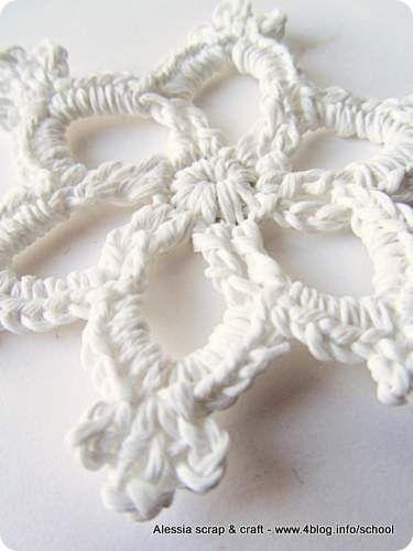 Countdown Natale: spiegazione Fiocco di neve all'uncinetto    Crochet Snowflake