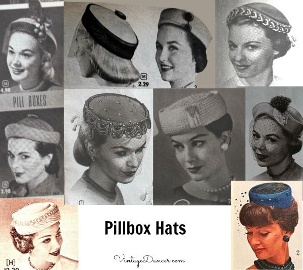 1950s Womens Hats By Style Hats For Women Hats Vintage Pillbox Hat