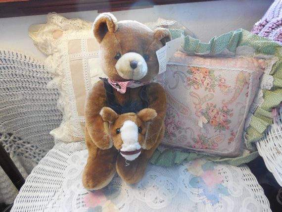 Sweet Darling Cowboy Bear with Stick Horse by Daysgonebytreasures, $14.00