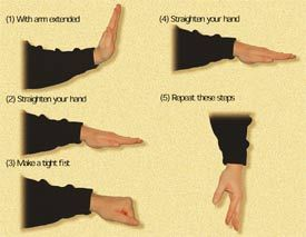 carpel tunnel prevention...or the hand signals from Close Encounters of the Third Kind?