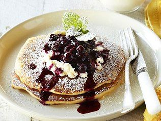 Recipe of the day - blueberry pancakes!