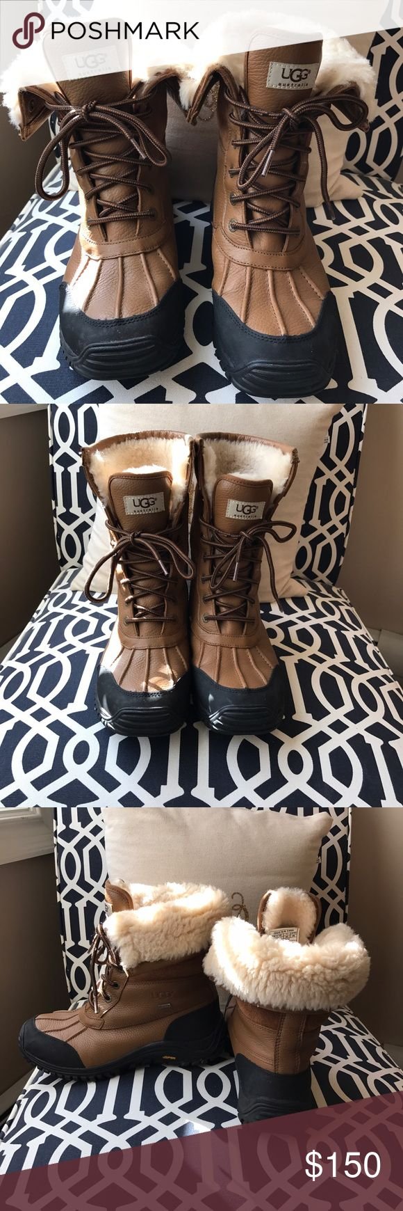 Ugg Adirondack Snow Boots Brown and black Ugg Adirondack boots perfect for the upcoming winter! Worn only a few times (major storms) over two seasons, in good used condition showing just minor wear. Perfect for looking fashionable while also staying warm! UGG Shoes Winter & Rain Boots