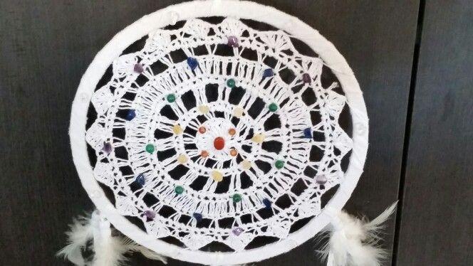 Handmade Chakra Dreamcatcher infused with Reiki